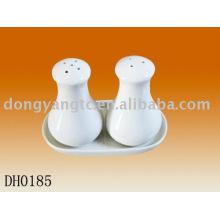 Factory direct wholesale 3 pcs strengthen ceramic cruet set