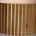 Modern Restuarant Decorative Natural Oak Wooden Semicricle Wall Lamp