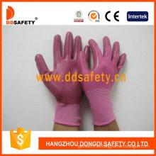 Nylon rosa con guante de nitrilo rosa-Dnn345