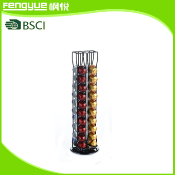 Black Powder Coating 40PCS Nespresso Metal Coffee Capsule Holder