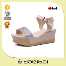 Hot moda sliver ouro sequined PU meninas superiores últimas sandálias plataforma de salto alto