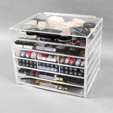 Organizadores de maquiagem de acrílico baratos e acessíveis