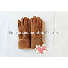 winter warm lambskin gloves for ladies