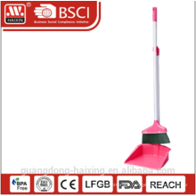 Haixing household colorul plastic dustpan and broom