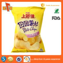 Alimentos grau laminado batatas fritas saco de embalagem por atacado