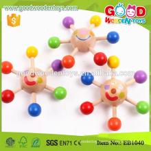 Wholesale Colorful Mini Peg-top Cheap Wooden Toy