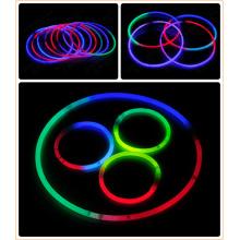 22.8′′ Individual Foilbag Tri Color Glow Plastic Necklace