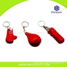 Alibaba hot sale custom gloves keychain boxing