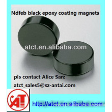 Black Epoxy Sintered Disk NdFeB Magnet