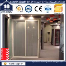 Interior / Exterior Patio Aluminio / Aluminio Puertas correderas de vidrio de seguridad
