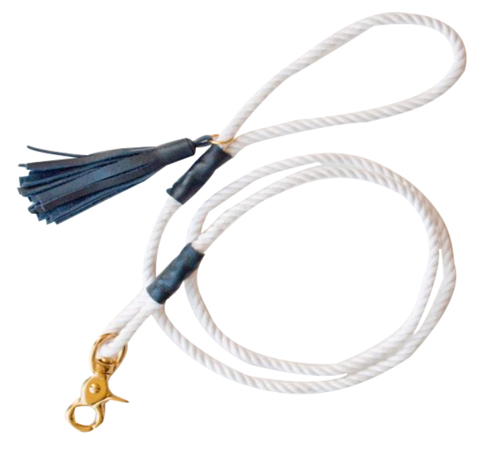 White Cotton Rope Dog Leashes