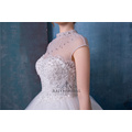 Perlen High Neck Brautkleid Brautkleider