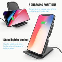 El precio de fábrica vende al por mayor el cargador inalámbrico qi del soporte móvil de la estación de carga rápida para el iPhone 8 Samsung S8