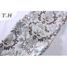Material de la cubierta del sofá del telar jacquar floral del 100% poliéster