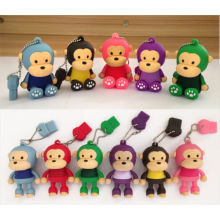 Cute Monkey USB 2.0 Flash Drive Personalizado 3D USB Stick