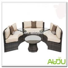 Audu Ratttan Wicker Sofás circulares al aire libre
