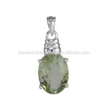 Pingente de prata esterlina de ameixa natural e ameixa verde natural de 925