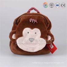 12 polegadas bonito pelúcia marrom macaco zoológico Animal mochila para crianças