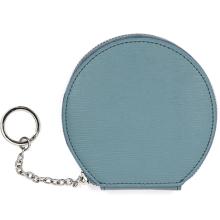Bolsa de chaveiro de carteira de design redondo de cor sólida