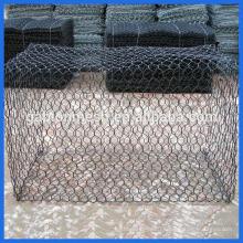 Woven technique and galvanized steel wire material gabion mesh
