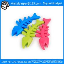 Рыбья Кость Цветная Резиновая Игрушка Для Собак Товары Для Животных