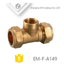 EM-F-A149 Latón macho hilo Tee compresión pex tubería