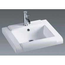 Lavabo de cerámica de la vanidad del cuarto de baño montado superior (020)