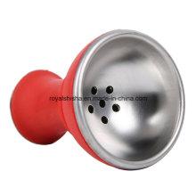 New Design Silicone Aluminum Hookah Head Shisha Bowl