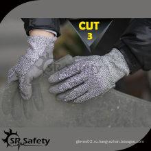 SRSAFETY 13G с трикотажным покрытием с покрытием из нейлона с защитой от пальцев, защитными рабочими перчатками, защитными рабочими перчатками