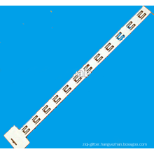 white hang strip with 12 hooks