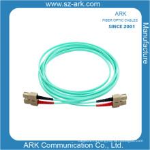 Дуплексный волоконный оптический кабель Om3 / 150 Aqua с разъемом Sc