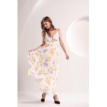 Vestido Maxi de Verão com Estampa Floral Feminina