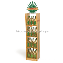 Beech Wood Shelf Acrylic Panel Display Drinks Stand Flooring Monster Energy Drink Display Stand