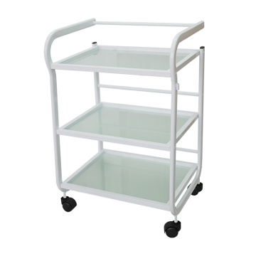 Rolling Salon Station Trolley Glass