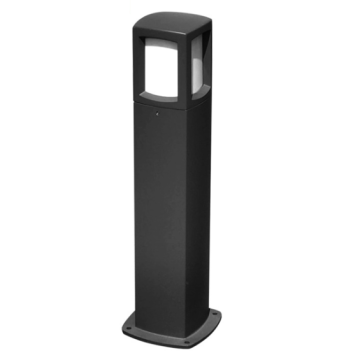 Black E27 Bulb Bollard Path Light