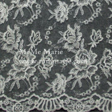 Ivory Rose Curtain Lace Fabric Embroidery Lace Fabric for Wedding Hem Lace 52'' No.CAC411