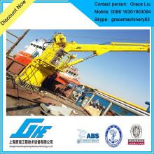 Grue hydraulique électrique à grue marine télescopique