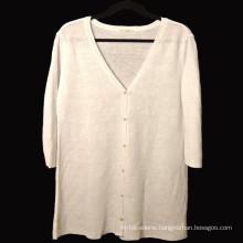 15PKLS02 2016 latest women 100% linen sweater cardigan