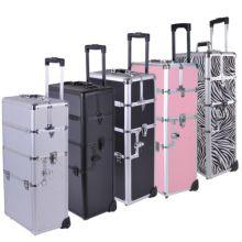 Aluminum Rolling Makeup Cosmetic Train Case for Sale (HX-A0732)