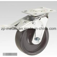 PP noir robuste avec roulette de frein