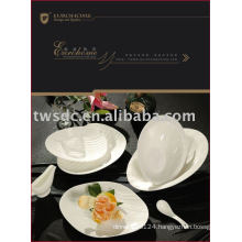 white porcelain table ware/table set