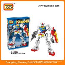Plastic building block robot kit educational toy