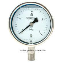 Medidor de pressão de aço inoxidável-diafragma Medidor de pressão-Glicerina Filled Pressure Gauge