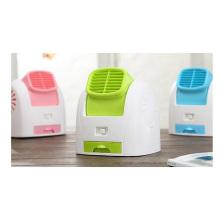 Ventilador de ar condicionado de mesa, mini ventilador de escritório de verão, ventilador USB portátil de viagem 290 G