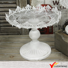 Wholesale Shabby Chic Vintage White Metal Wedding Cake Stands