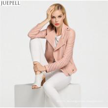 Damen 2016 Neue Mode Pu-leder Hohl Straße Frauen Jacke Kurzen Absatz Kleinen Mantel