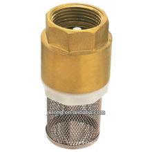 Válvula de retención de latón J5001 con válvula de retención de latón / latón