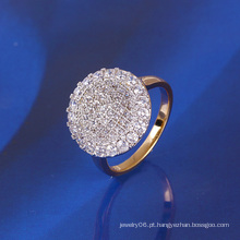Xuping luxo anel banhado a ouro com CZ sintética