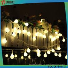 Luz da decoração do Natal para a luz da corda da bola do diodo emissor de luz