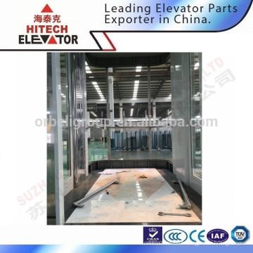 Cabine en verre ascenseur pour centre commercial